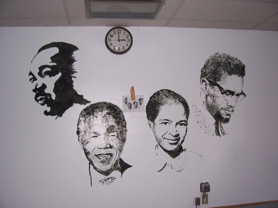 Malcolm X, Nelson Mandela, Martin Luther King by michaelalamo